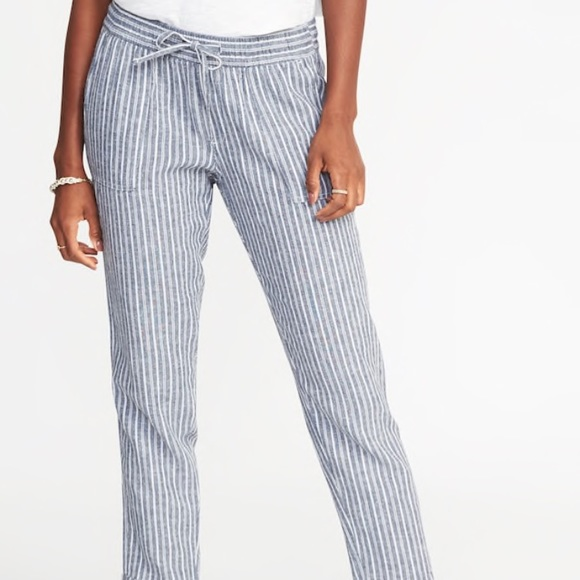 undefeated x discount shop how to find Mid rise Linen blend crop pants